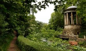 St Bernard's Well, seen from Dean Gardens in Edinburgh
