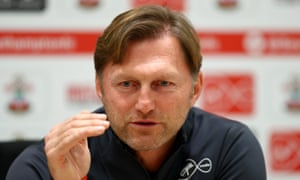 Southampton manager Ralph Hasenhüttl speaking earlier today.