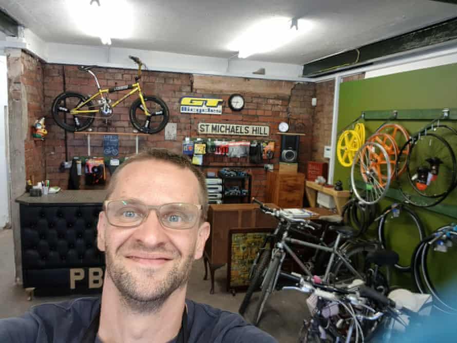 Andrew Bebesi of Briscycle bike shop in Bristol