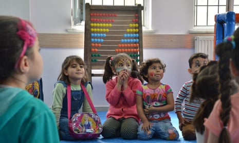 Children learn at the Ensar community centre in Gaziantep.
