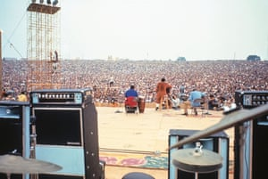"""Richie Havens Lang """"Richie was the first act to open the Festival and played every song he knew , when he ran out of songs he made one up – 'Freedom'."""