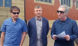 The surviving members of the Inspiral Carpets, Graham Lambert, Stephen Holt, and Clint Boon