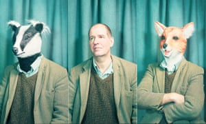 Charles Foster as himself, in a badger and in a fox mask