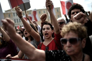 Athens, Greece Members of the All-Workers Militant Front stage a protest