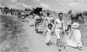 Palestinian refugees from a village near Haifa