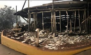 In the aftermath of the burning night, it was clear how much devastation the fires had brought to Malua Bay, with the bowling club among the buildings that were completely destroyed.
