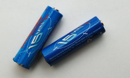 Rechargeable batteries.