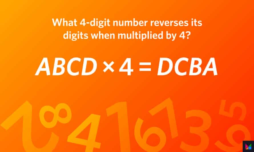 (The digits A, B, C and D are unique and neither A nor D is zero.)