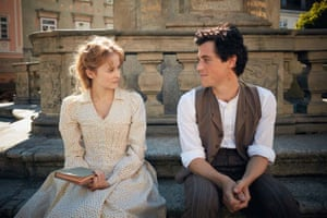 Shannon Tarbet as Marie Winteler and Johnny Flynn as young Albert Einstein