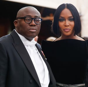 UK Vogue editor Edward Enninful, who is 10th on the Powerlist, and Naomi Campbell.
