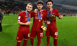 Harvey Elliott, Neco Williams and Curtis Jones were in the Liverpool squad that won the Fifa Club World Cup in December.
