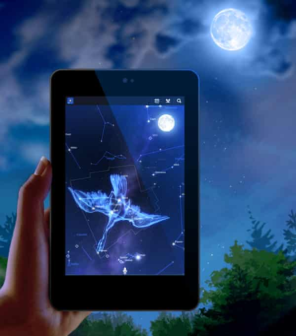 Star Chart lets you annotate the night sky using GPS positioning.
