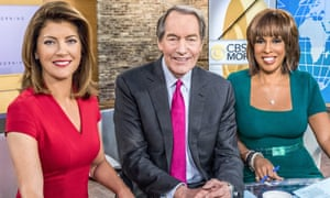 Charlie Rose on CBS This Morning with co-hosts Norah O'Donnell (left) and Gayle King
