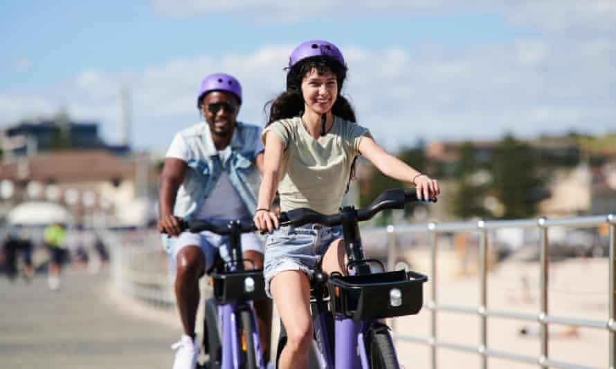 Beam's bright purple e-bikes are the latest rental to be trialed in Australia
