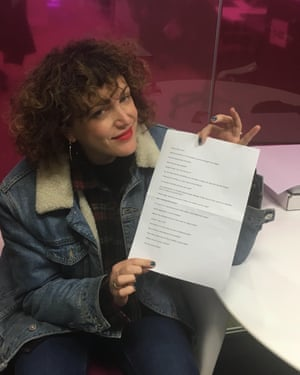 Annie Mac in the Guardian offices.
