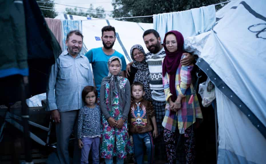 """Mohammad Rezwani and his family - """"Life is so hard and stressful here, but we have to keep smiling. Our message to the international community, anyone in power who can help us. If you are are human, if you want a safe and secure life for your family, that is all we want too. We don't want luxury, we just want safety."""" -"""