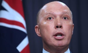 The home affairs minister, Peter Dutton