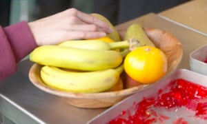 Bowl of fruit in a school