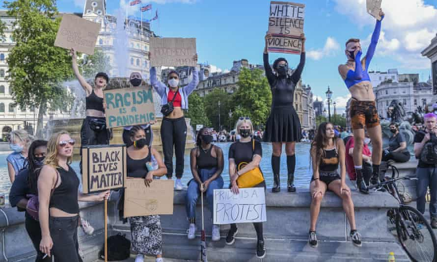 Black Lives Matter protesters in central London.