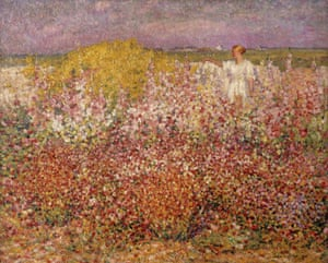 John Russell 'Mrs Russell among the flowers in the garden of Goulphar, Belle-Île' 1907