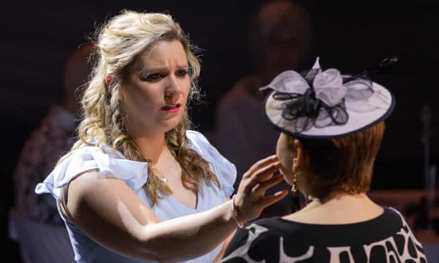 Tranformative … mezzo-soprano Anna Huntley and Streetwise Opera participant Bridgette Foley in Tell Me the Truth About Love.