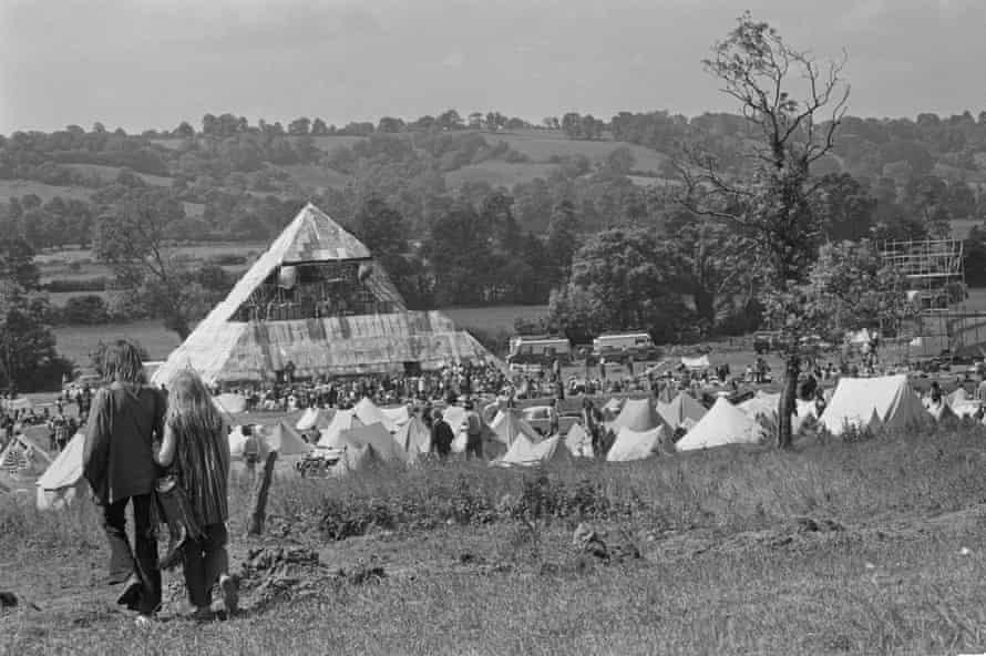 Early days … Glastonbury Fair in 1971.