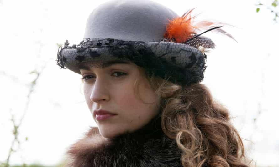 Lily James as Natasha Rostova in War and Peace