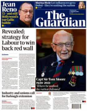 Guardian front page, Wednesday 3 February 2021