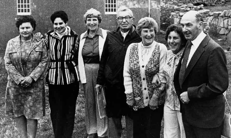 Rachel Johnson (third from right) with other former St Kilda residents in the 1980s