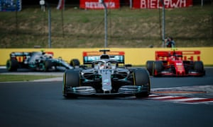 Lewis Hamilton takes control of the Hungarian Grand Prix.