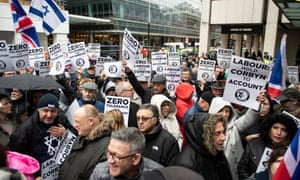Protesters converge on Labour party headquarters in central London.