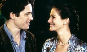 Hugh Grant and Julia Roberts in Notting Hill (1999), for which Roberts was paid more.