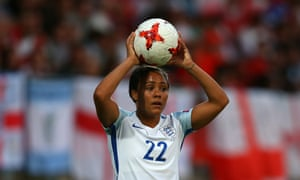 Alex Scott playing for England Women against Portugal in Tilburg, the Netherlands, during Euro 2017