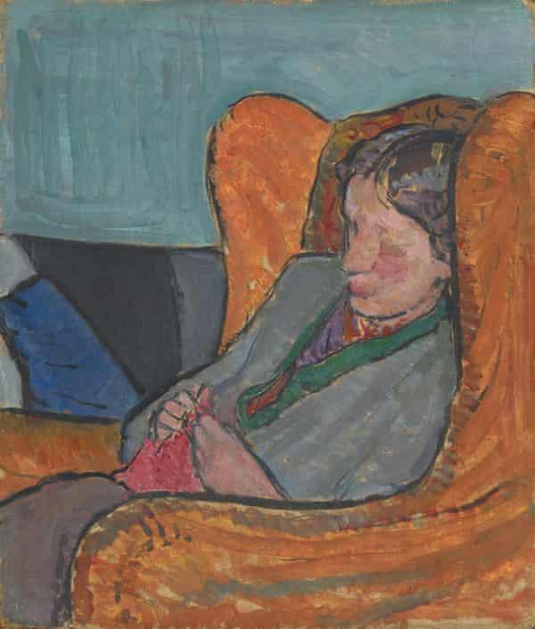 Bell's portrait of  Virginia Woolf (1912).