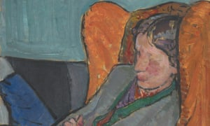 Detail from a portrait of Virginia Woolf.