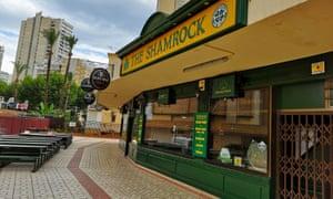 The Shamrock pub in Benidorm which shut in March.