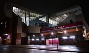 Villa Park was due to host a Premier League game against Everton on Sunday.