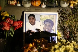 A memorial for the victims of the recent Orinda shooting includes a photo of Raymon Hill Jr.