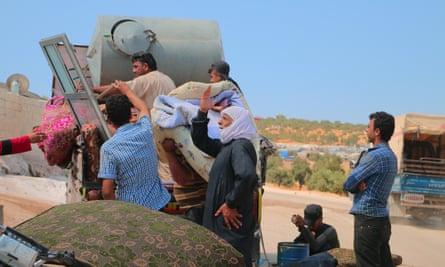 Civilians in Idlib, Syria