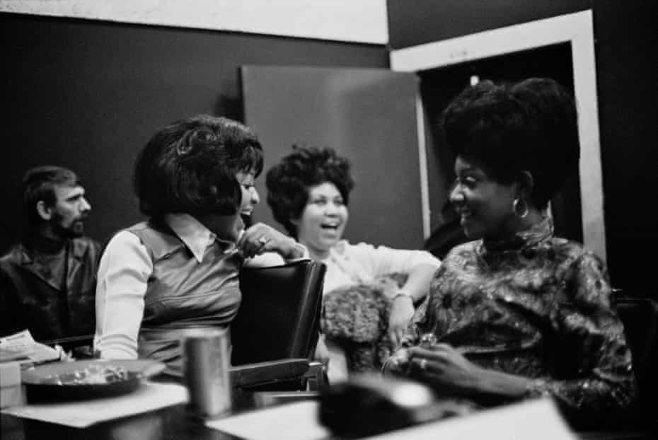 Carolyn, Aretha and Erma in 1969, during the recording of Aretha's LP This Girl's in Love With You.