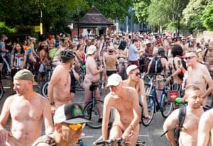 Participants cycle near Lincoln's Inn Fields