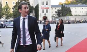Austrian Chancellor Sebastian Kurz arriving at the informal EU summit in Salzburg