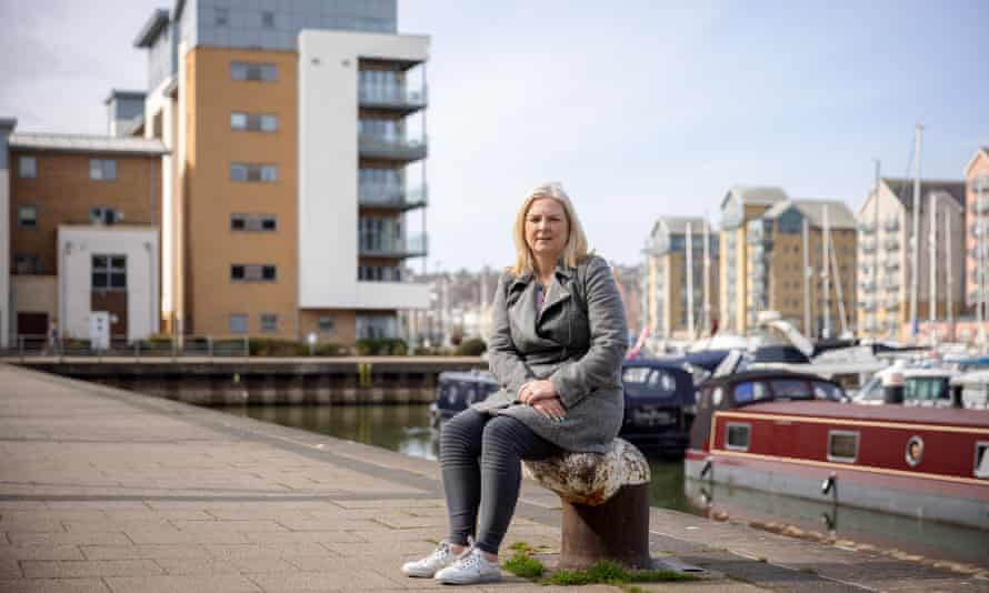 Sally Ann Burton at Mizzen Court in Portishead. She owns several flats in the development, which has a number of problems and does not meet all the required safety standards.