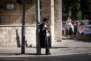 Views of a religious Jewish area of West Jerusalem