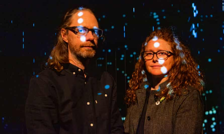 When particles collide … Joe Gerhardt and Ruth Jarman, who worked with raw data from Cern.
