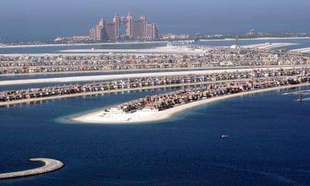 Palm Jumeirah island in Dubai