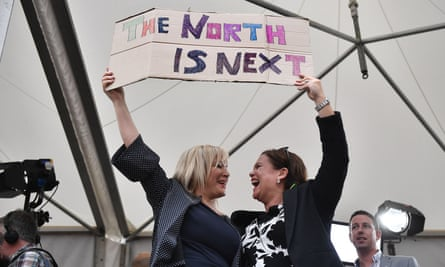 Sinn Féin's deputy leader, Michelle O'Neill, and leader, Mary Lou McDonald