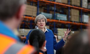 Theresa May at an election campaign event in Stoke-on-Trent, 16 May 2017
