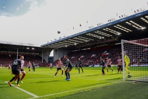 Sheffield United, back in the Premier League, taking on Liverpool at Bramall Lane in September.
