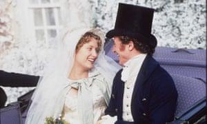 Susannah Harker as Jane and Crispin Bonham Carter as Bingley in the BBC adaptation of Jane Austen's Pride and Prejudice.